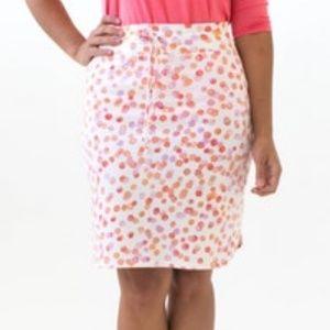 Agnes & Dora Live-In Skirt, XXS, White Polka dot